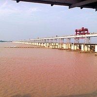 Mahanadi Barrage water impounded side