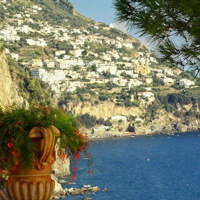 Over looking the Amalfi Coast.