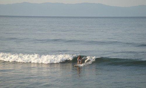 Surfing in the beautiful Bay of Banderas, Punta Mita.