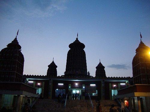 Spires of the Ram Mandir, Bhubaneswar at dusk
