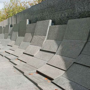 Tiles lined along the Memorial