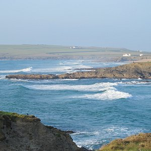 View of Treyarnon and Constantine bay
