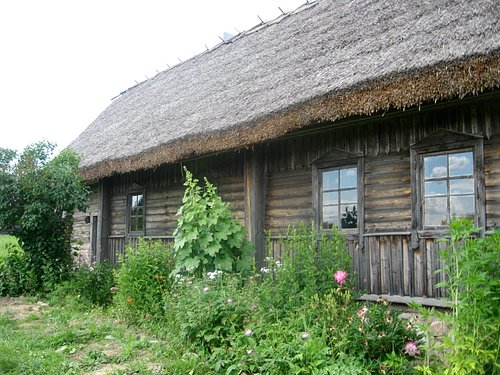 old farmstead and garden