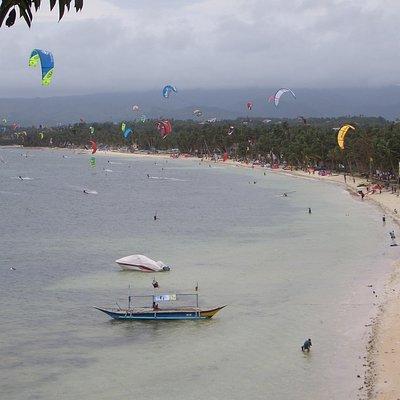 View of Bulabog Beach from Palm Breeze Villa