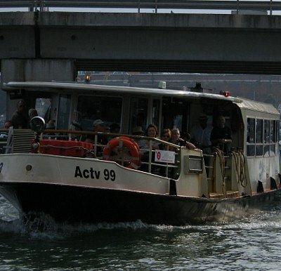 A Vaporetto (water bus)