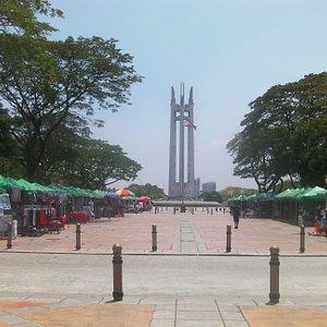 View of Quezon Memorial Museum coming from the underground passageway