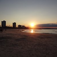 Sunset on Coolangatta beach