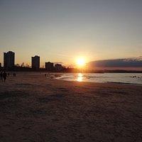 Sunset on Coolangatta beach