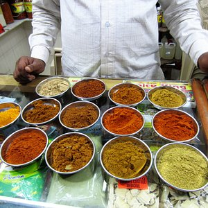 I bought spices - these are mostly just different curries here.