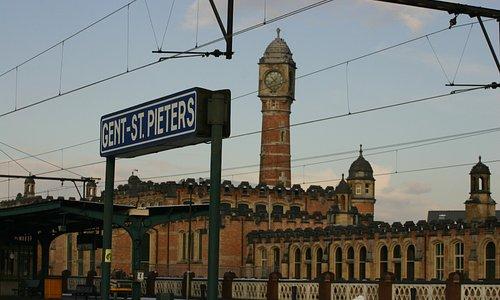 Gent-Sint-Pieters Railway Station Clock Tower