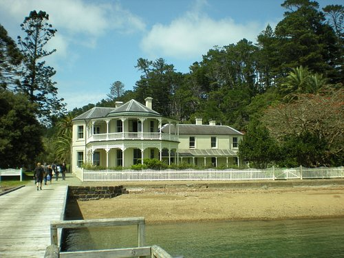 The house as we approached from the jetty