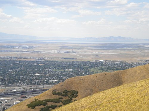 SLC Airport and The Great Salt Lake from Ensign Peak