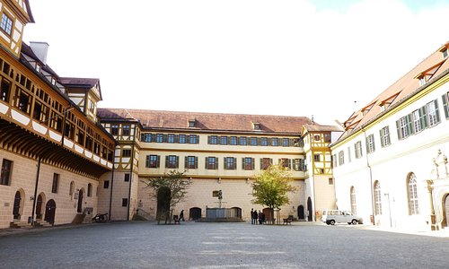 Courtyard within the castle