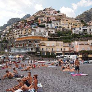 Gorgeous view fr the beach of Positano.