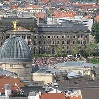 Blick vom Rathausturm, Richtung Elbe