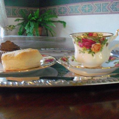 English tea served on fine china!