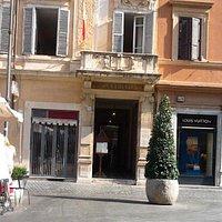 Entrance to International Baptist Church, Rome