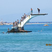 Diving Platform off the Beach