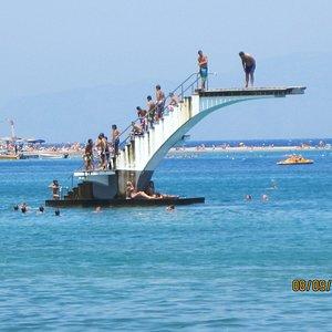 Diving Platform off the Beach