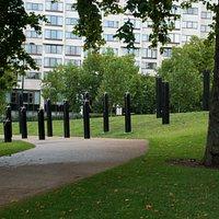 Walking through Hyde Park Corner towards the Memorial