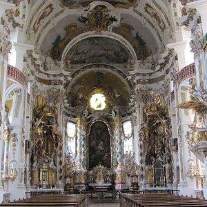 richly decorated interior