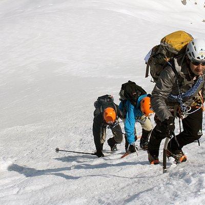 In the last 120 meters, before the summit!
