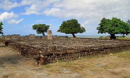 The smaller marae at Taputapuatea