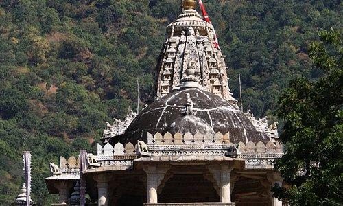 Il tempio che emerge dalla vegetazione