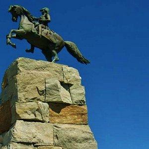 Monumento  del General San Martín,Parque San Martin ,Mar del Plata.