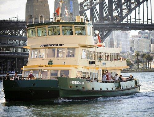First Fleet vessel Friendship in Sydney Cove