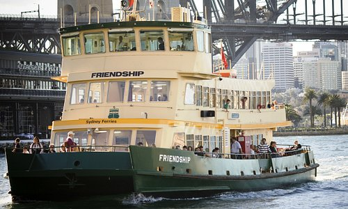 First Fleet vessel Friendship in Sydney Cove