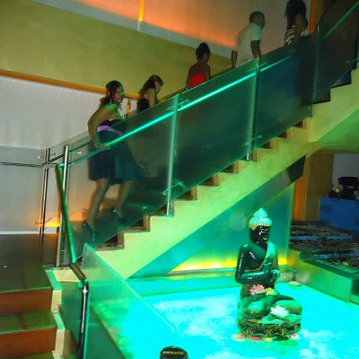 Staircase to the lounge