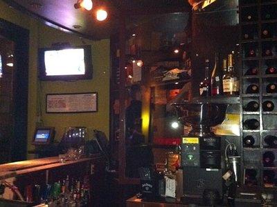 humidor section of bar