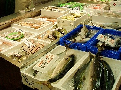 鮮魚コーナー(岩船港鮮魚センター)
