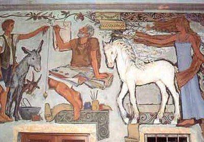 uno dei bellissimi affreschi originari