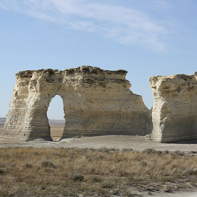 Salt rock formation--they are about as big as a two-story house.