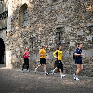 Running along old Churches