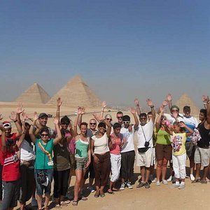 One of our groups in Cairo