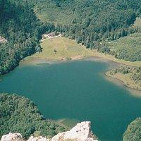 Blick vom Katzenstein auf den Laudachsee