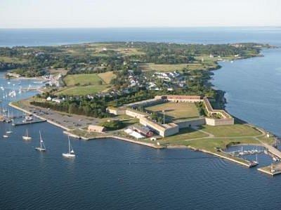 Aerial of Fort Adams by Billy Black