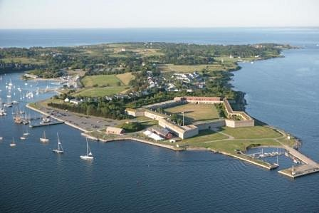 Aerial of Fort Adams by Billy Black