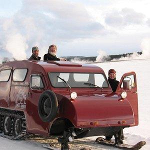 Snowcoach at Fountain Flats
