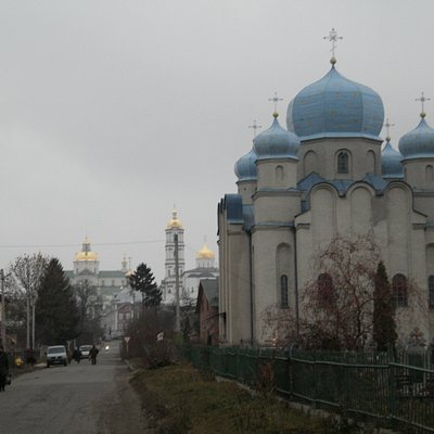 St Nicholas Church with Pochaev Lavra in the Background