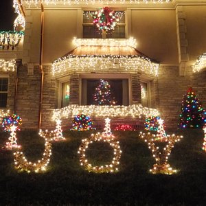 One of the houses in Dyker Heights
