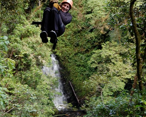 Flying over the waterfall...