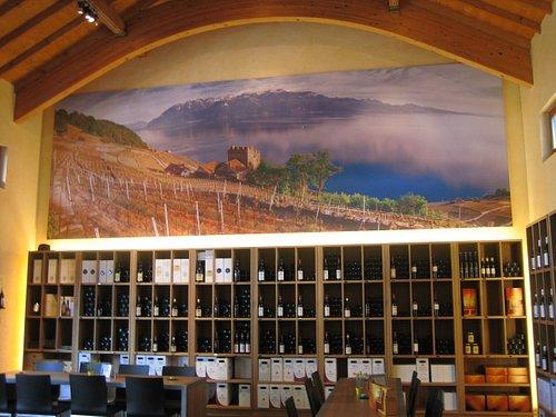The wine tasting room