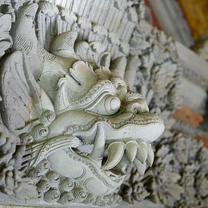 authentic old Bali era three dimensional sculpture