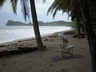 Chair Massage at Playa Garza