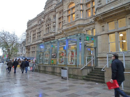 Entrance to the Info Centre and Cardiff Story
