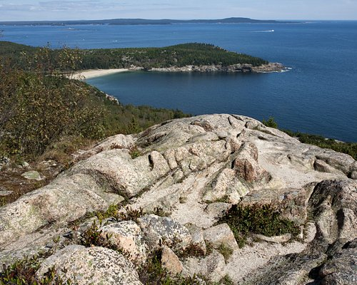 view of sand beach from the top